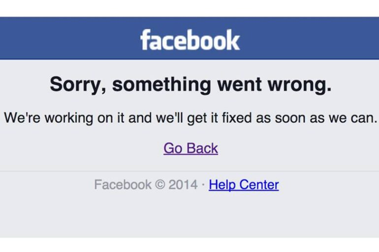 Facebook went down for a while